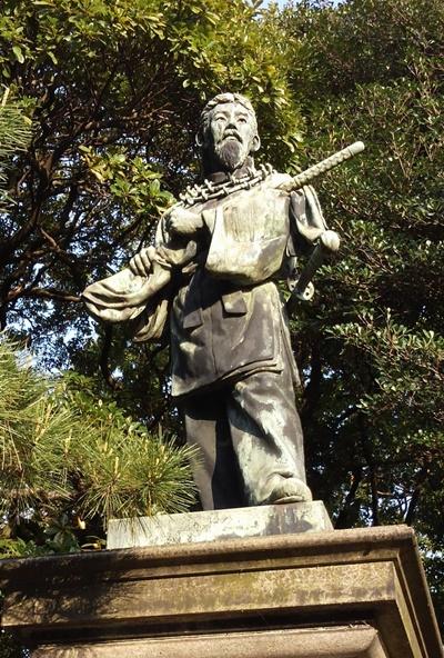 浜離宮恩賜庭園(東京都中央区)宇摩志麻治命像