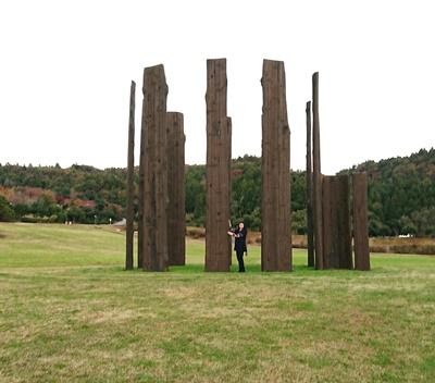 真脇遺跡の環状の木柱列