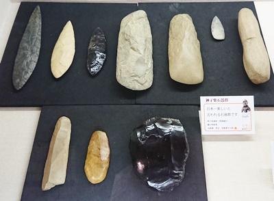 神子柴石器(浅間縄文ミュージアムにて)