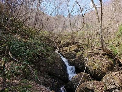 奥社付近の滝
