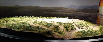 伊勢堂岱遺跡の全体像の模型